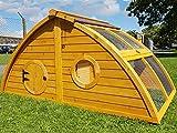 Hühnerstall Hühnerhaus Cocoon Hühnerstall Halbmond Half Moon mit abnehmbares Dach für einfachere Reinigung, mit stabilem Nistkasten, grosser Lebensraum und 167cm Lang inklusive Nistkasten - Designer Stall