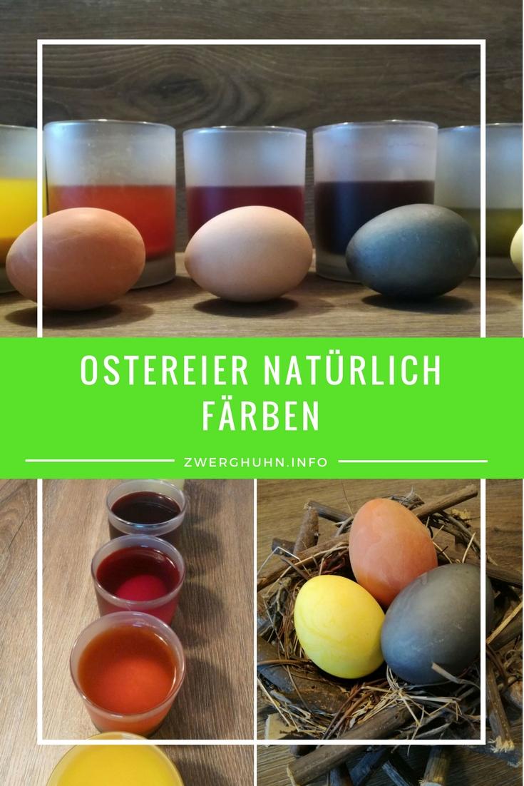 Ostereier natürlich färben, ohne Zusatzstoffe und Chemie nur mit Naturfarben aus Lebensmitteln, Kurkuma, Zwiebelschalen, Spinat, Früchtetee, rote Beete