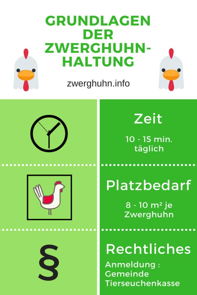 Grundlagen der Hühnerhaltung, Zeit, Platzbedarf, Rechtliches